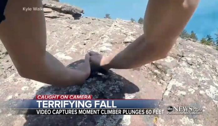 Climber's Body Camera Captures His Horrifying 60-Foot Free-Fall