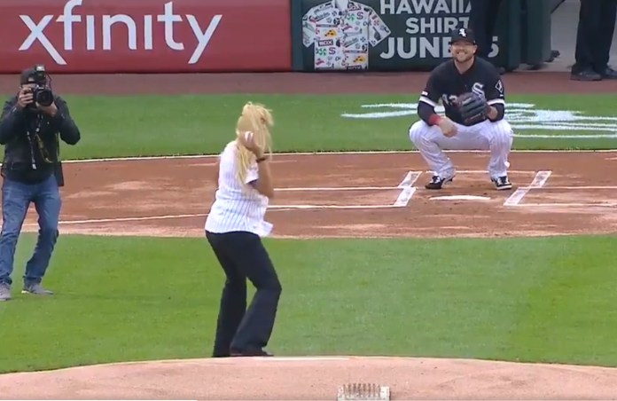 Here's The Latest Contender For 'Worst Ceremonial First Pitch'