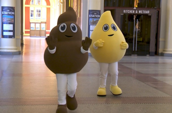 Canada Uses 'Poo' And 'Pee' Mascots For Flushing Awareness Campaign
