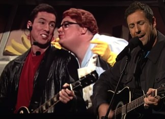 Adam Sandler Returns To SNL With Opera Man And Chris Farley Tribute