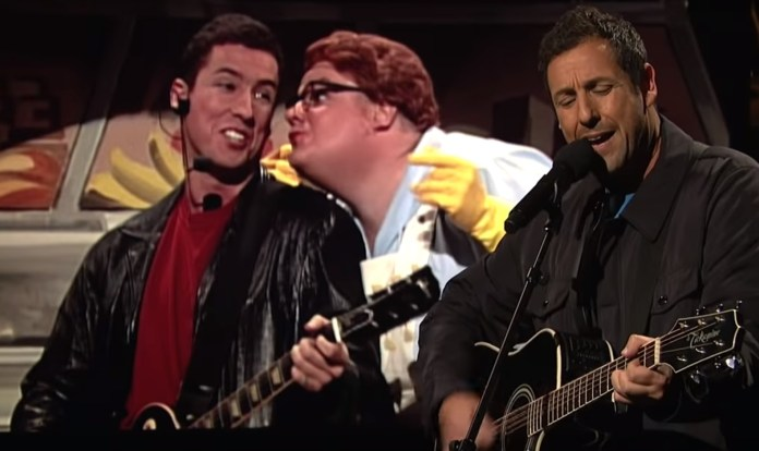 Adam Sandler Returns To SNL With Opera Man And Chris Farley Tribute