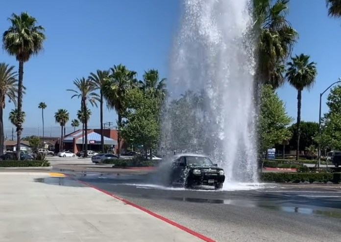 California Goofball Is Way Too Excited About Broken Fire Hydrant