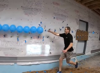 Man Sets World Record For Popping 200 Balloons With A Nail
