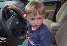 Four-Year-Old Borrows Grandpa's SUV To Go Get Some Candy