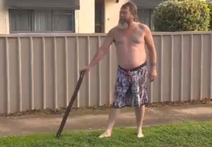 Naked Australian Man Wielding Long, Musical Stick Chases Off Thief