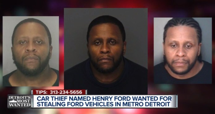 Detroit Car Thief Named Henry Ford Targets Fords