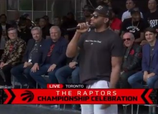 Kawhi Leonard Mocks His Own Laugh At Raptors Championship Rally