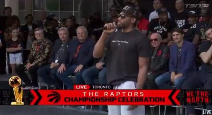 Kawhi Leonard Mocks His Own Laugh At Raptors Championship Rally