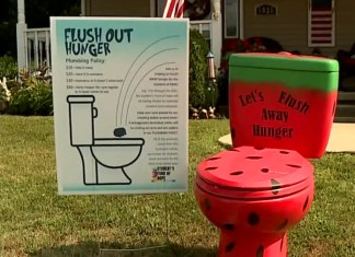 Colorful Toilets Pop Up Around Indiana Town For Great Cause