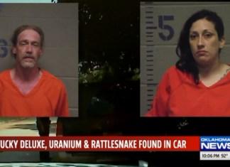 Oklahoma Couple Arrested For Stolen Car Full Of Guns, Whiskey And A Rattlesnake