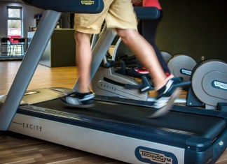 Older Fella Can't Figure Out How To Stop Treadmill
