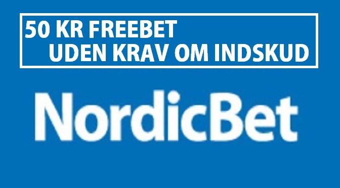 Få 50 kr. Nordicbet Freebet uden krav om indskud