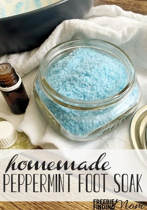 5 Ingredient Peppermint Scented Homemade Foot Soak