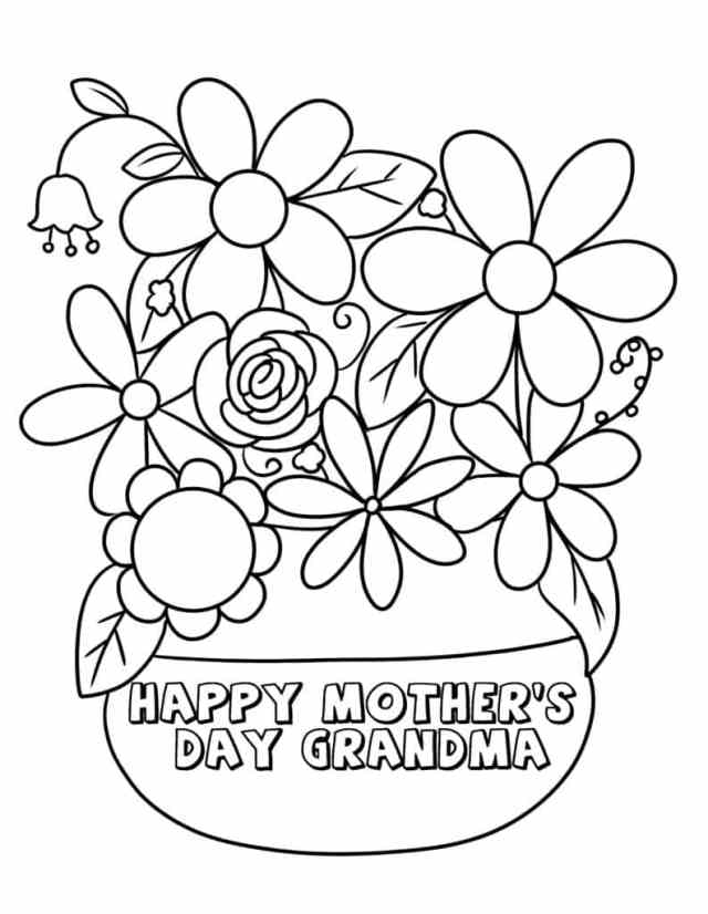 """14 """"Happy Mother•s Day, Grandma"""" Coloring Pages - Freebie Finding Mom"""