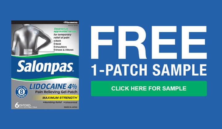 FREE Salonpas Lidocaine Patch Sample
