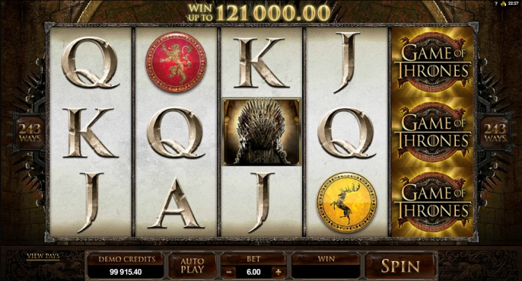 Game of thrones slot microgaming