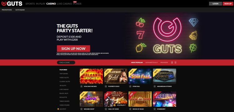 GUTS casino review UK