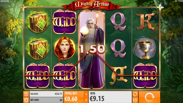 Mighty Arthur Slot quickspin big win