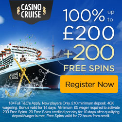 Casino cruise extra spins offer