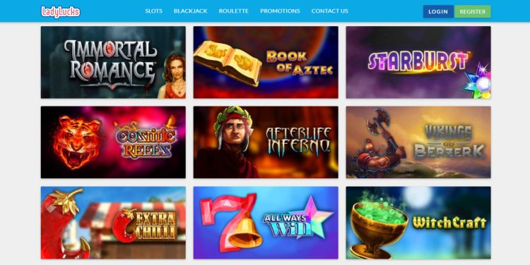 Lady Lucks casino review slots selection