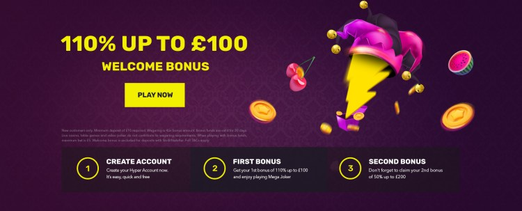 Hyper casino review bonus