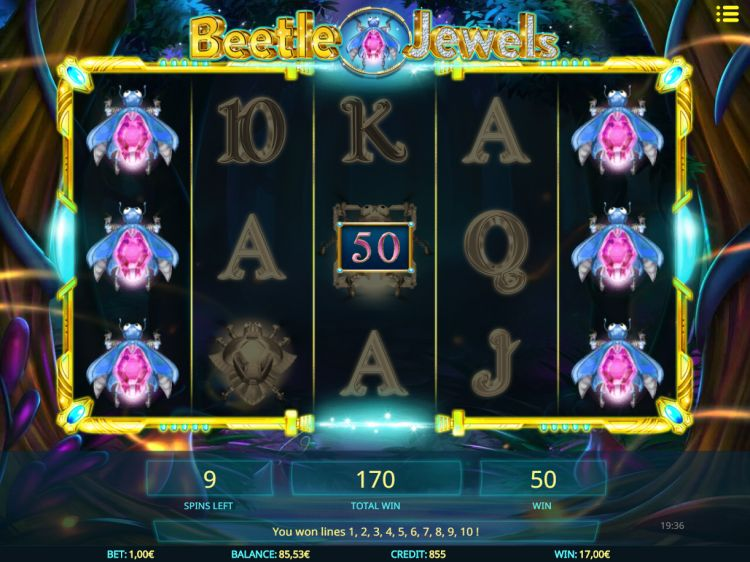 beetle-jewels video slot isoftbet bonus win