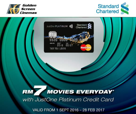 Standard Chartered Bank RM7 Movie Everyday at GSC!