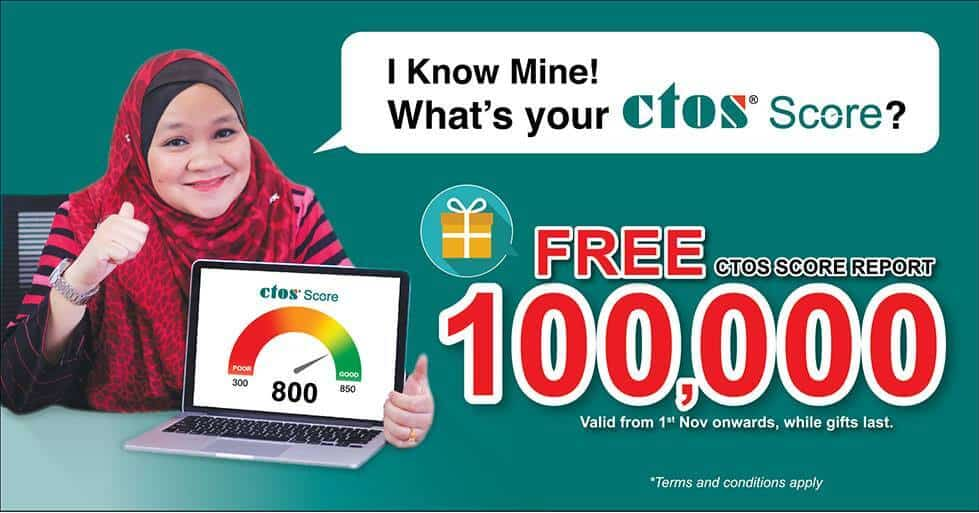 FREE CTOS SCORE REPORT giveaway! Check your credit score now!