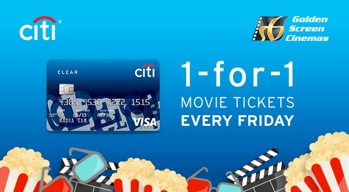 CitiBank Buy 1 free 1 GSC movie ticket Promotion 2017