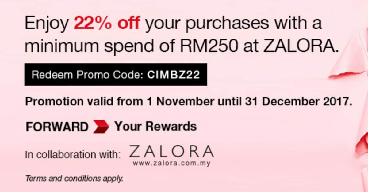 Zalora Malaysia Promotion - 22% Extra Discount Promo Code