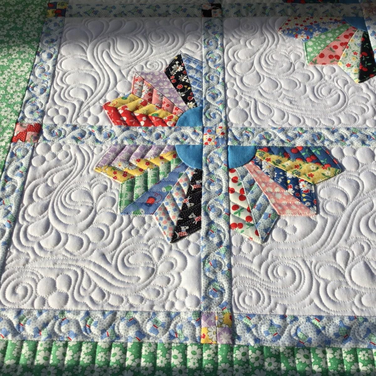 Esther S Dresden Plates Quilt Free Bird Quilting Designs