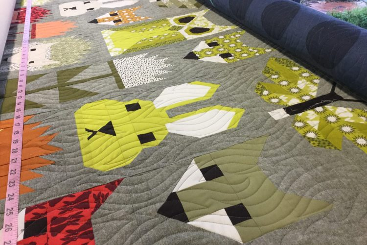 Kate's forest friends quilt