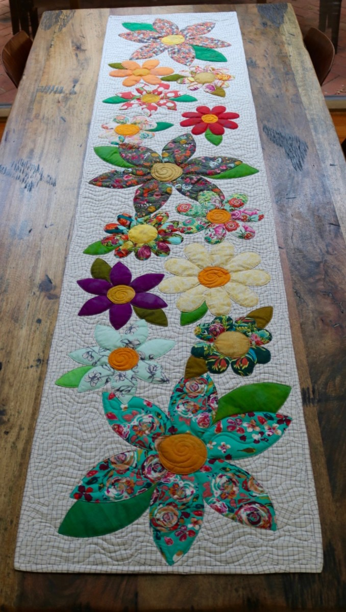 12 Blossoms Table Runner Downloadable Pattern Free