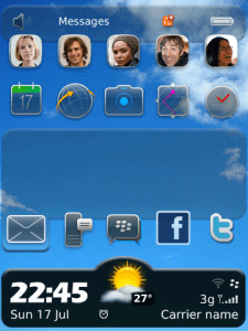 Meteo HD Social Hidden Today Weather Theme for Blackberry Themes download