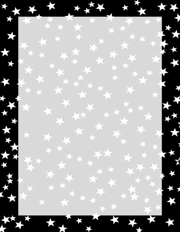 black and white stars border