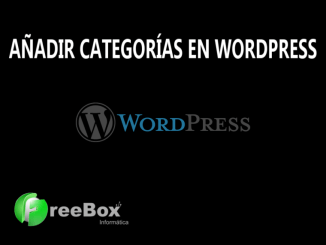 como crear categorias en wordpress