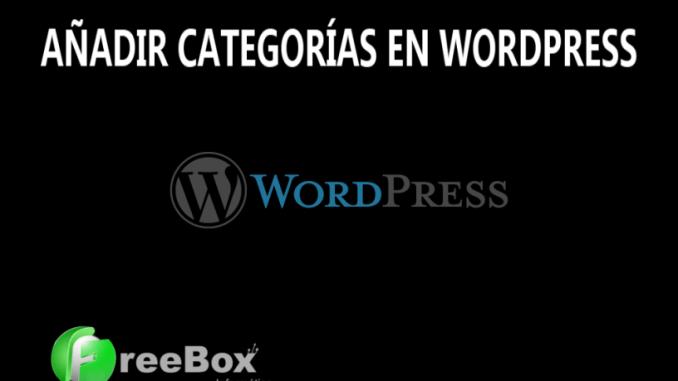 como crear categorias en wordpress
