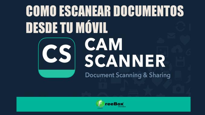 Escanear un documento desde el movil