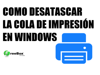 desatascar cola de impresión windows