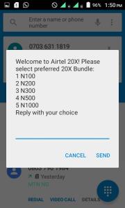 Airtel 20x bonus code