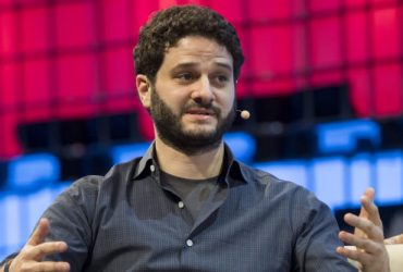 Asana Co-Founder and CEO Dustin Moskovitz speaks with Wladimir Klitschko (not pictured), CEO of Klitschko Ventures, at Web Summit in Lisbon, Portugal, on Nov. 8, 2017.