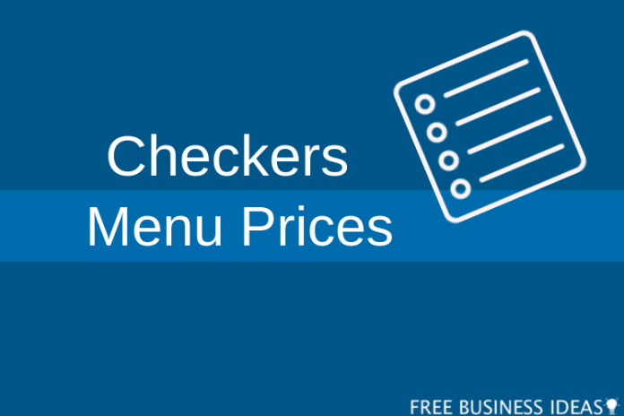 checkers menu prices