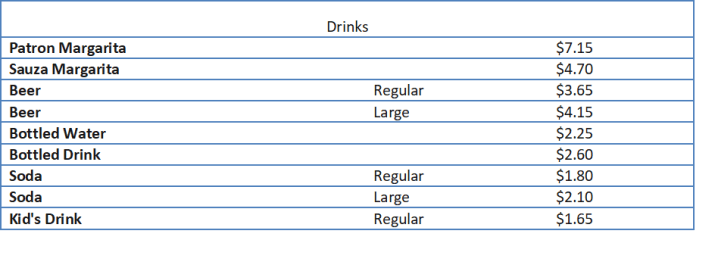 chipotle menu prices
