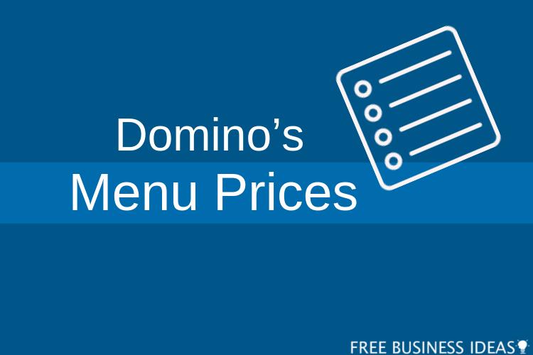dominos menu with prices