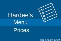 hardees menu prices