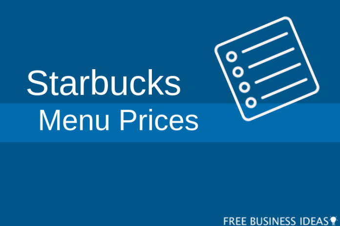 starbucks menu prices