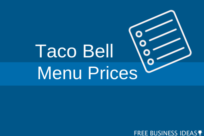 taco bell menu prices