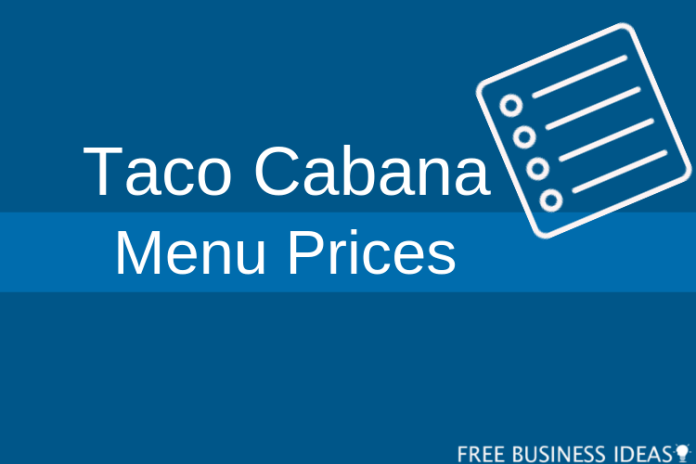 taco cabana menu with prices