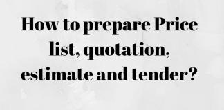 prepare quotation