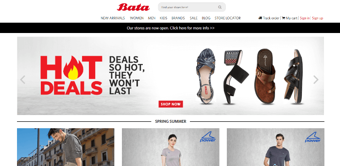 bata shoes online india